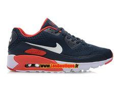 NikeiD Air Max 90 Ultra Mesh - Chaussures Nike Sportswear Pas Cher Pour Homme Bleu nuit marine/Infrarouge/Blanc/Noir 599405-iD06