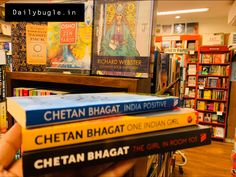 - One Indian Girl- The Girl in Room Half Girlfriend- 2 States - The 3 Mistakes of my life - Five Point Someone. Movie 3 Idiots, Chetan Bhagat Books, Corruption In India, New Books, Good Books, Half Girlfriend, Delhi Girls, English Writers, Indian Boy