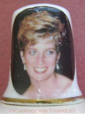 Royalty Thimble Princess Diana Tribute Blue Waters Fine Bone China England