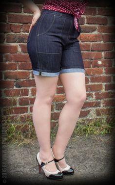 Rumble59 Ladies Denim - Hotpants  #hotpants #rockabillyrules