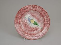 Plate with peafowl, ca. 1825 | British | The Met