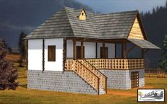 Village House Design, Village Houses, Design Case, Recycled Crafts, Home Fashion, Traditional House, Cabana, Romania, Gazebo