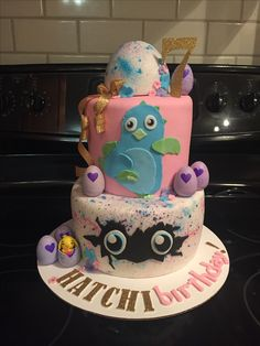 Hatchimal Cake Aaliyah Birthday, Mary Birthday, Girl Birthday Themes, 6th Birthday Parties, 8th Birthday, Birthday Ideas, Cupcakes, Cupcake Cakes, Lego Friends Party