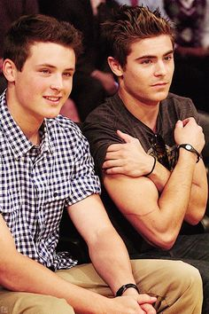 Dylan & Zac Effron. The gene pool in this family is fantastic!