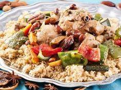 Squash Couscous N. Africa - use white Lebanese squash or other zucchini types Tunisian Food, Ras El Hanout, Israeli Food, Healthy Cooking, Fried Rice, Krabi, Squash, Potato Salad, Vegan Recipes