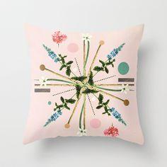 Flora Botanica No.1 Throw Pillow by Dawn Gardner - $20.00