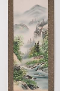 Check out Japanese hanging scroll Landscape painting on silk Antique wall art hs0656  http://www.ebay.com/itm/Japanese-hanging-scroll-Landscape-painting-on-silk-Antique-wall-art-hs0656-/122010350693?roken=cUgayN&soutkn=9PBnCp
