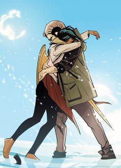 Alana and Marko Reunited in Saga #30 - Fiona Staples
