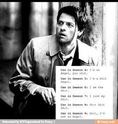 To be or not to be #Supernatural #Castiel #ILoveAngels