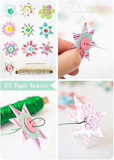 Pappersblommor – Paper flowers | Craft & Creativity – Pyssel & DIY