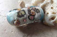 stoursglass Organic Shape Ocean Focal Lampwork Bead by stoursglass on Etsy