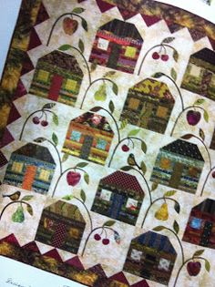 {Sisters and Quilters}: Friendship Strips & Scraps Quilting Bee  LOVE the fruit in the trees