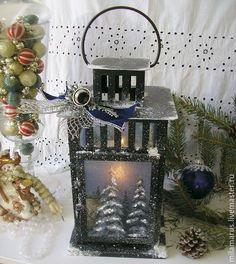 """Купить фонарь""""Волшебная ночь"""" - фонарь, подсвечник, фонарь подсвечник, Новый Год, рождество, рождественский подарок"""
