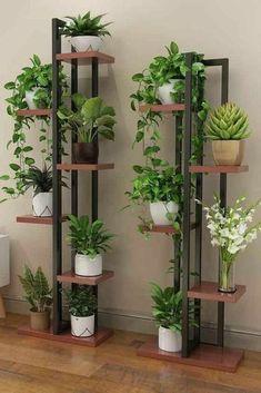 House Plants Decor, Plant Decor, Home Room Design, Home Interior Design, Small Balcony Garden, Vertical Garden Wall, Garden Beds, Decoration Plante, Flower Stands