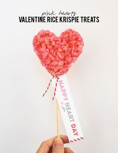 Here's a simple way to make some cute Valentine treats. See how to make these cute pink heart Rice Krispie treats for Valentine's Day.