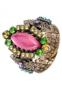 Konplott INDIAN PARADISE Pierścionek kolorowy Heart Ring, Rings, Floral, Jewelry, Jewlery, Jewerly, Ring, Flowers, Schmuck