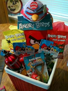 For my big boy <3 His Angry Bird Easter basket.