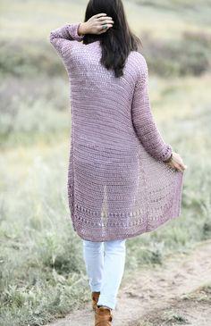 Crochet Cardigan Pattern, Knit Crochet, Crochet Patterns, Stitch Patterns, Crochet Ideas, Knitting Patterns, Crochet Projects, Crochet Sweaters, Free Crochet