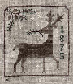 Garden Grumbles and Cross Stitch Fumbles: Winter Deer