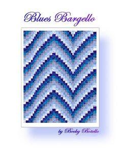 Blues Bargello Quilt Pattern