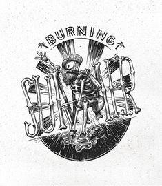 My summer t-shirt illustrations on Behance