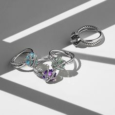 Cable Wrap - #DavidYurman's  uniquely set gemstone rings - now in a smaller size. #mccaskillandcompany