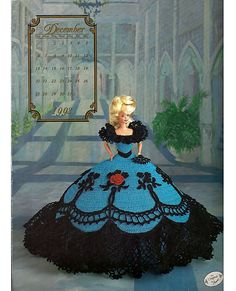 Miss December The Cotillion Collection  Fashion Doll  Crochet Pattern  Annies Attic.