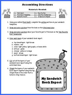 pizza book report directions (each pizza slice you cut out will be used per the instructions below)  inside  cover of the pizza box-- glue your biography book report worksheet to the  inside.