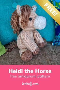 Heidi the Horse Free Amigurumi Pattern