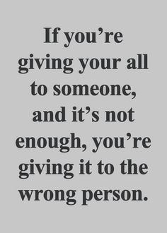 Give because you love and want to. I have learned to lower expectations...it helps the hurt