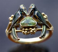 Art nouveau bird engagement ring by Rene Lalique. How beautiful is that? It could be yours for only $33700...