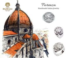 """c0e23f92ed5e Anello """"Brunelleschi"""" in oro bianco 750 con diamanti"""