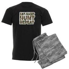Men's Eat Sleep Hunt Repeat Sh Men's Dark Pajamas