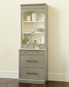 narrow hutch for dining room | French Casement Narrow Sideboard & Hutch Restoration ...