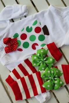 Newborn Christmas Outfit Christmas Tree by DarlingLittleBowShop, $34.95