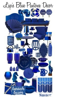 Do you have an eye for color? Lapis Blue by Pantone Blue Living Room Decor, Blue Kitchen Decor, Blue Home Decor, White Decor, Coastal Decor, Color 2017, Pantone 2017 Colour, Blue Furniture, Colour Pallette