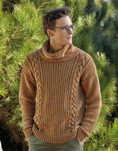 Tijdschrift Dames Basic 10 Herfst / Winter   3: Heren Trui   Camel