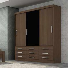 Deixe seu dormitório elegante e organizado com o incrível Guarda Roupa Safira, com um design atraente e cores super modernas que inovara o seu ambiente. Composto de três portas de correr, nove gavetas, cabideiros e prateleiras.