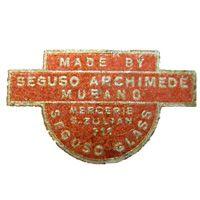 Archimede Seguso Murano glass paper label.