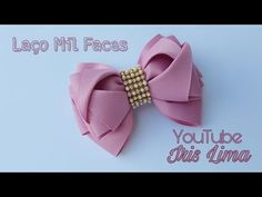 YouTube Diy Hair Bows, Diy Bow, Diy Ribbon, Ribbon Bows, Ribbon Bow Tutorial, Hair Bow Tutorial, Diy Hairstyles, Pretty Hairstyles, Iris Lima