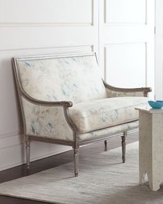 Shop Violet Settee from Massoud at Horchow, where you'll find new lower shipping on hundreds of home furnishings and gifts. Floral Furniture, French Furniture, White Furniture, Ikea Furniture, Furniture Ideas, Handmade Furniture, Furniture Websites, Furniture Market, Country Furniture