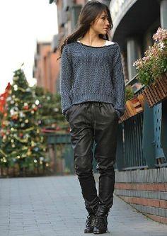 Special Cutting High Quality PU Pants Black SG20121034http://www.clothing-dropship.com