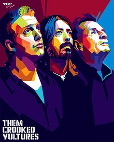 Them Crooked Vultures | Art by gilar666