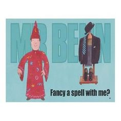 2657 FANCY A SPELL WITH ME FUNNY MR BENN RETRO TV CARTOON CHARACTER