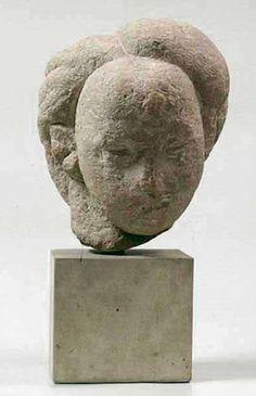 """Danaida"" sculpture by Constantin Brâncuși, Bucharest, Romania 1908 Sculpture Head, Modern Sculpture, Modern Art, Contemporary Art, Bokashi, Art Through The Ages, Stone Carving, Action Painting, Art Plastique"