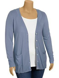 Womens Plus Boyfriend V-Neck Cardis~Get in all the colors!!