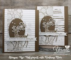 Yvonne is Stampin' & Scrapping. Stampin Up Christmas, Christmas Cards, Card Tags, I Card, Santa And Reindeer, Embossing Folder, Stampin Up Cards, Stamping, Elf