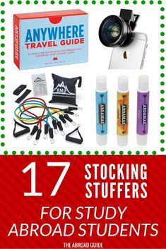 Stocking stuffers for study abroad travelers - need gift ideas for someone who's studying abroad soon? These little gifts are great stocking stuffers and are gifts that they'll use when they're studying abroad. Gift For Someone Traveling, Study Abroad London, Overseas Education, Student Travel, Student Studying, Travel Gifts, Travel Stuff, Student Gifts, Travel Abroad