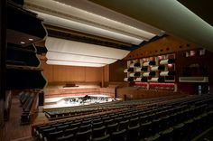 The Royal Festival Hall is a stunning auditorium which can seat up to guests in fixed raked seating. The Hall boasts a state of the art stage and rig, a large number of back of house areas and many of the original features. London Hall, World Theatre, Festival Hall, Concert Hall, Auditorium, Opera House, Blinds, Centre, Stairs