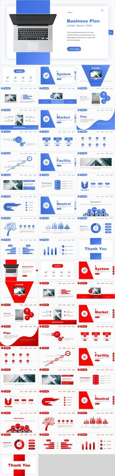 2 in 1 Best Business Blue Red PowerPoint templates - Fernando Barahona - SiePin Powerpoint Presentation Slides, Simple Powerpoint Templates, Professional Powerpoint Templates, Presentation Design, Keynote Template, Business Design, Creative Business, Business Company, Power Points